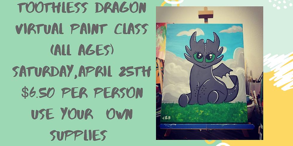 Toothless Dragon Virtual Paint Class