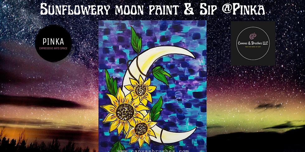 Sunflowery Moon Paint & Sip @Pinka
