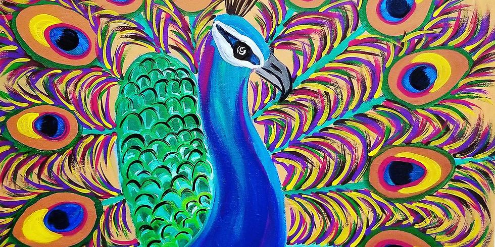 Pretty Peacock Virtual Paint Class