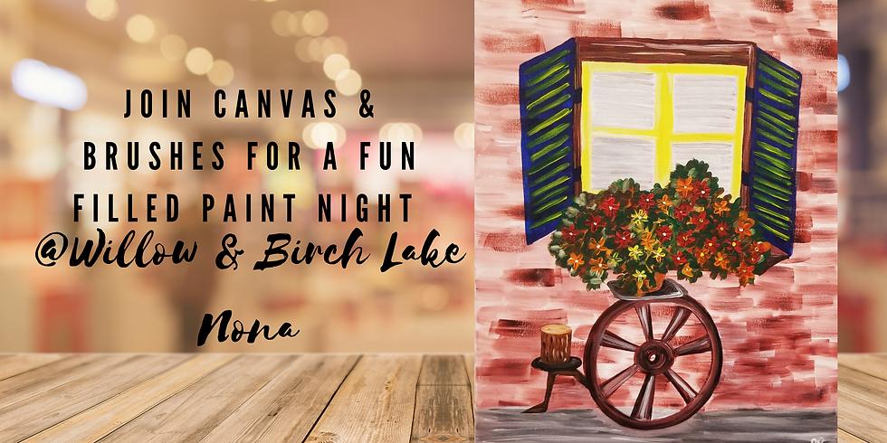 The Flowery Window Paint Night