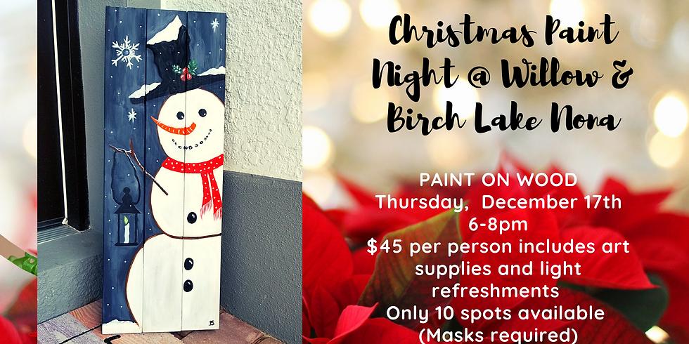 Christmas Paint Night @Willow & Birch Lake Nona