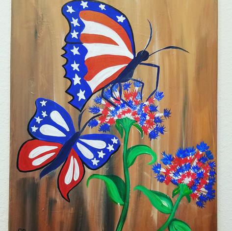 Patriotic Butterflies