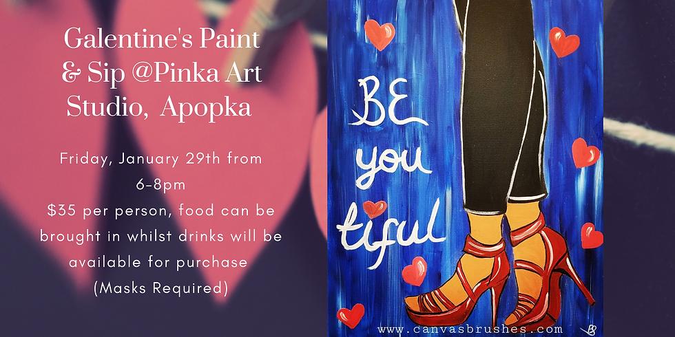 Galentine's Paint & Sip @Pinka Art Studio