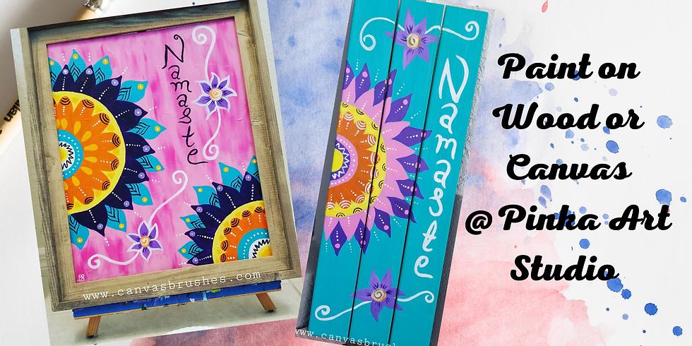 Mandala Paint & Sip @Pinka Art Studio