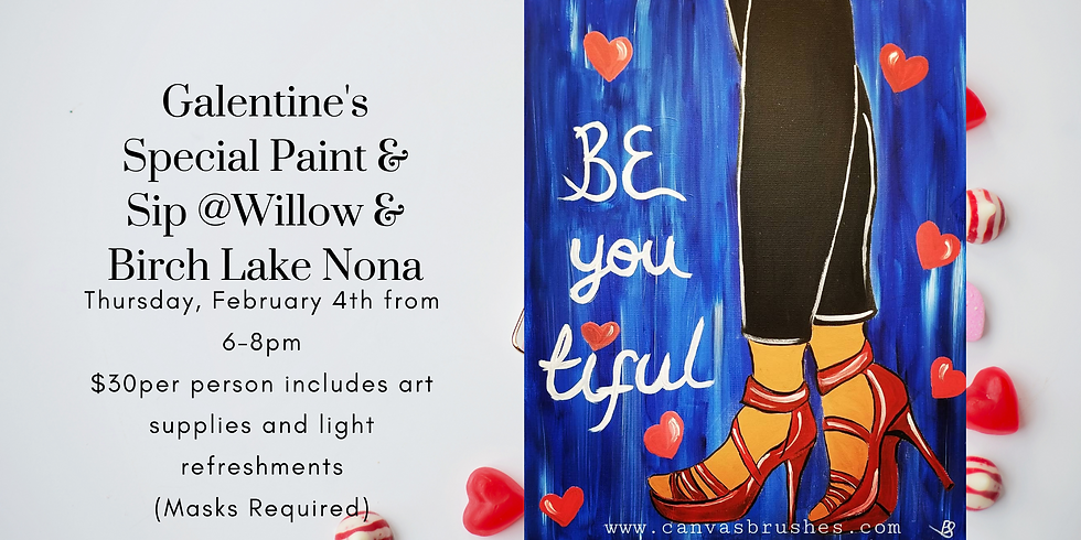 Galentine's Special Paint & Sip @Willow & Birch Lake Nona