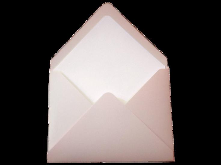 Obálka C6+ pudrová - s vkladem z průsvitného papíru, bílé