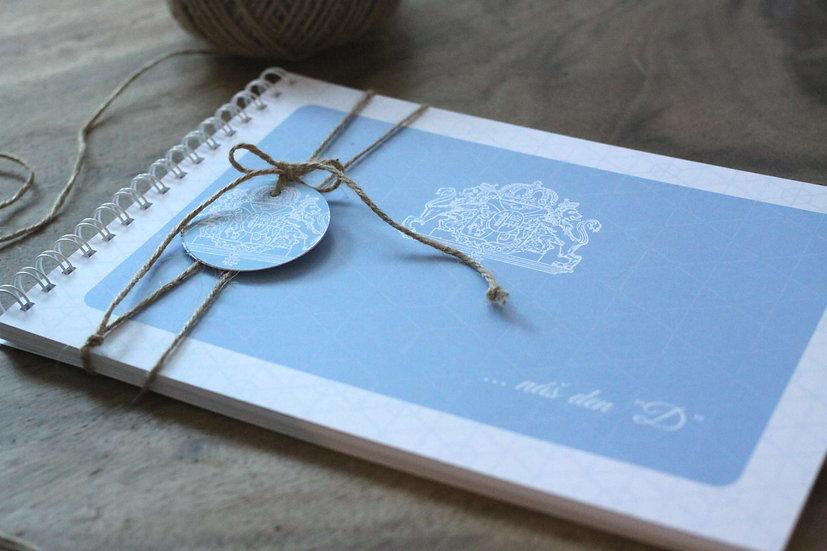 Kniha přání Svatební pas, modrá 297x210, tištěná