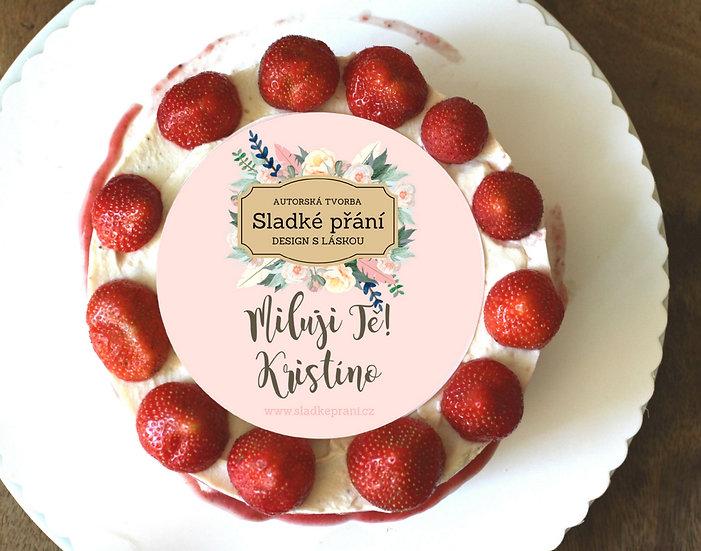 Jedlé blahopřání na dort - Sladké přání No.1