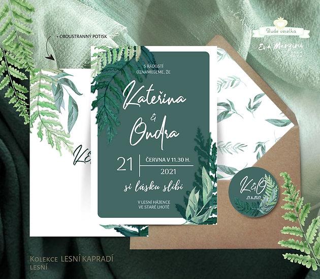 Lesní kapradí, zelená - vzorek