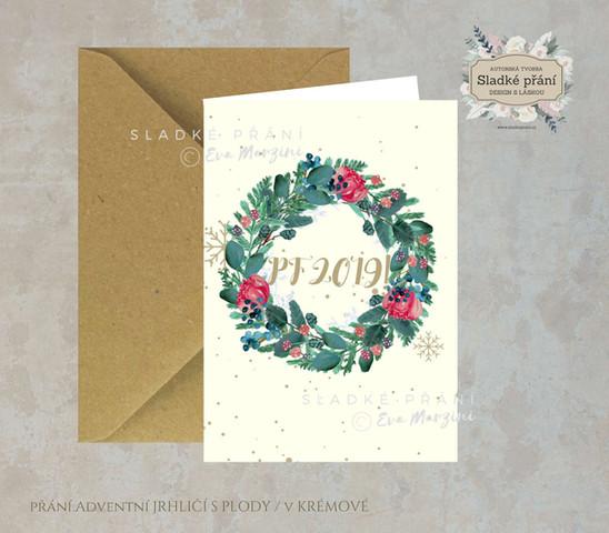 8-Vánoční přání Adventní JEHLIČÍ SPLODY