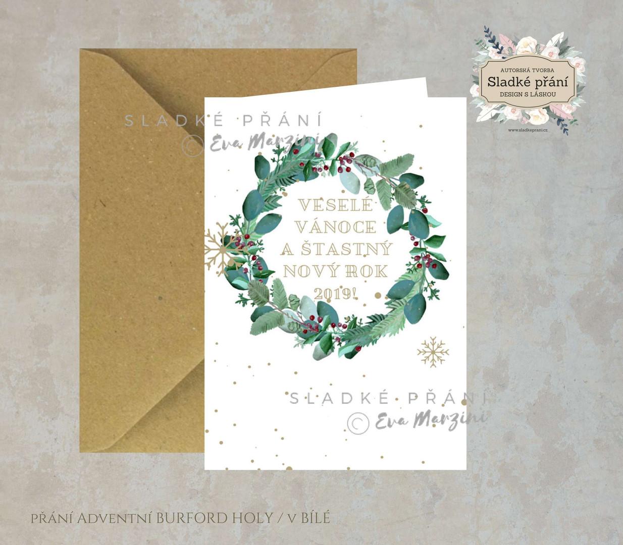 8-Vánoční přání Adventní BURFORD HOLY 20