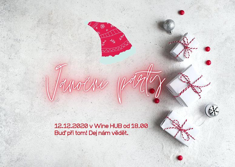 animovaná web pozvánka ve stylu 90. léta na vánoční večírek