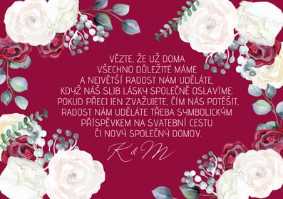 Kartičky na dary Burgundy Grace Kelly- víno, 75x105 mm