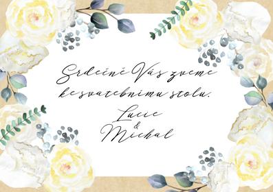 Svatební pozvánky Grace Kelly No.1, 75x105 mm