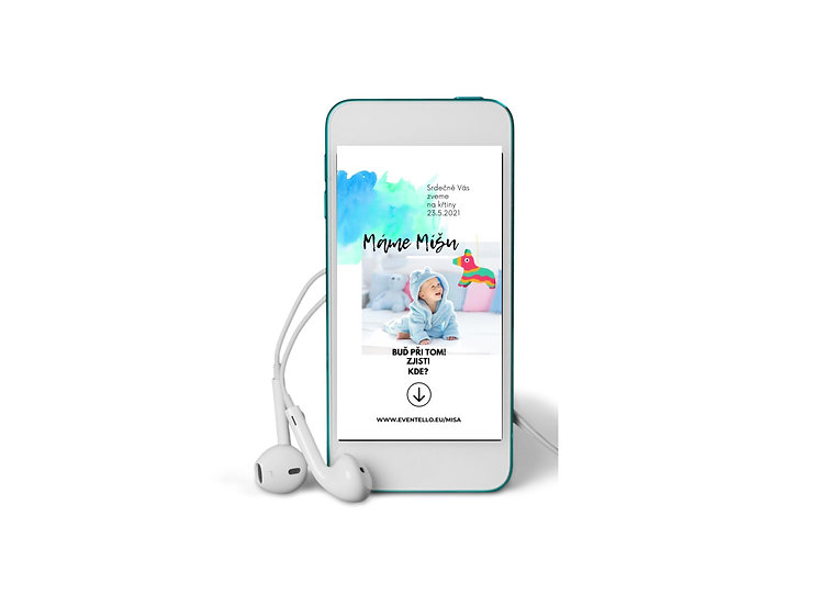 Baby Shower No.13 - animovaná pozvánka do mobilu
