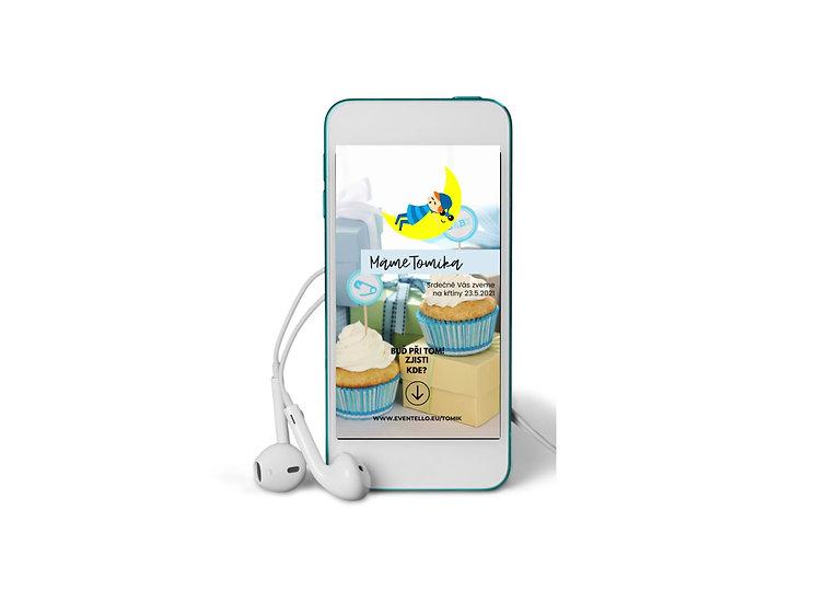 Baby Shower No.11 - animovaná pozvánka do mobilu