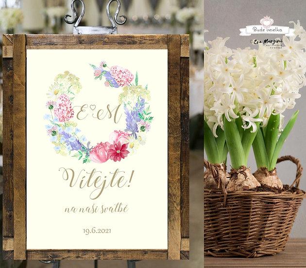 Plakát Vítejte Luční zahrada, A3 - ivory - tištěný