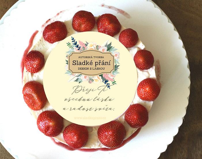 Jedlé blahopřání na dort - Sladké přání No.4