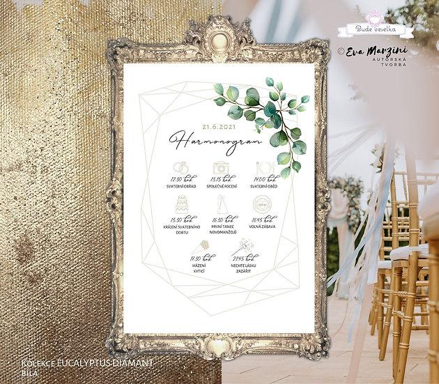 Plakát Harmonogram Eucalyptus Diamant, A3 - bílá - tištěný