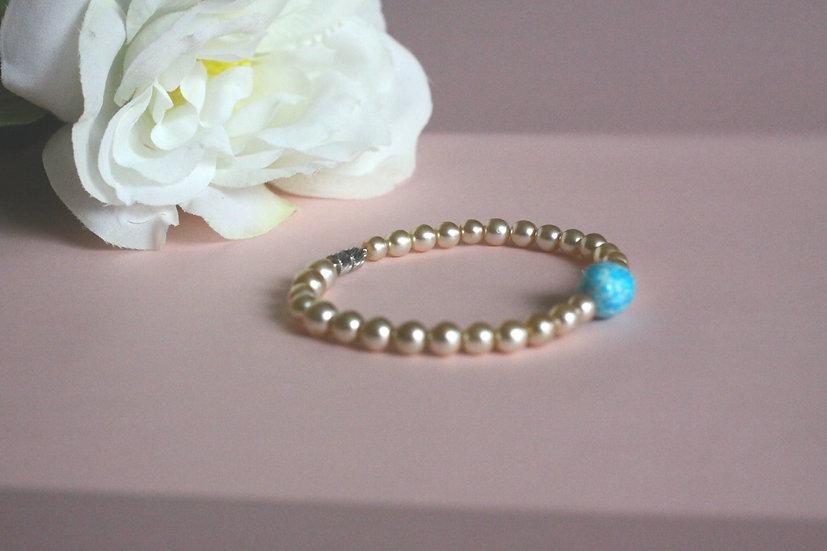 náramek z perel pro snoubence nebo družičky 249 Kč