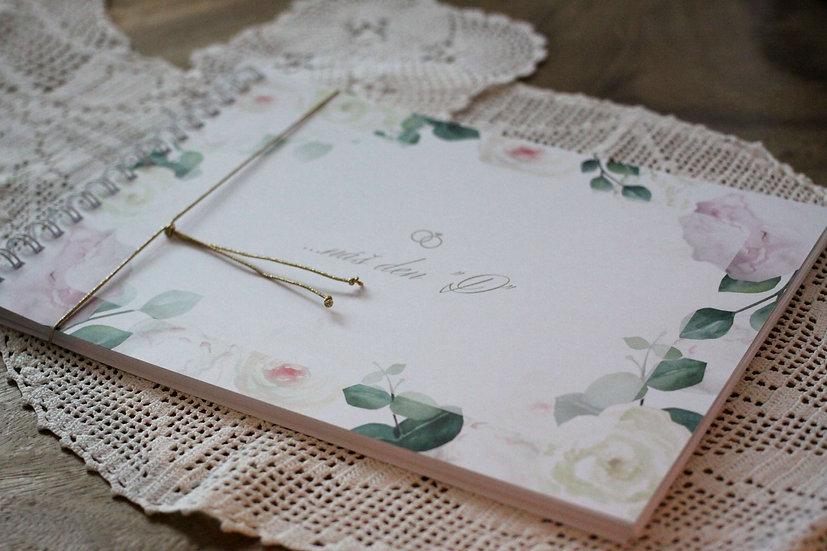 Kniha přání Pivoňková zahrada, bílá 297x210, tištěná