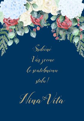 Svatební pozvánky Rozkvetlá zahrada, No.5 75x105 mm