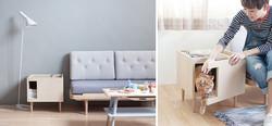 Příruční stolek nebo kočičí domek