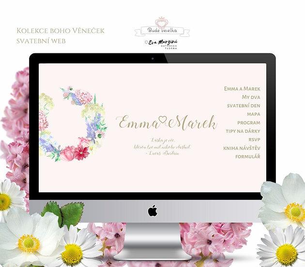 Svatební web Luční zahrada, pudr