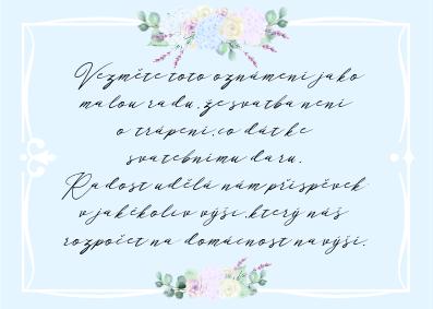 Kartičky na dary Boho Barocco, blankytné, 75x105 mm