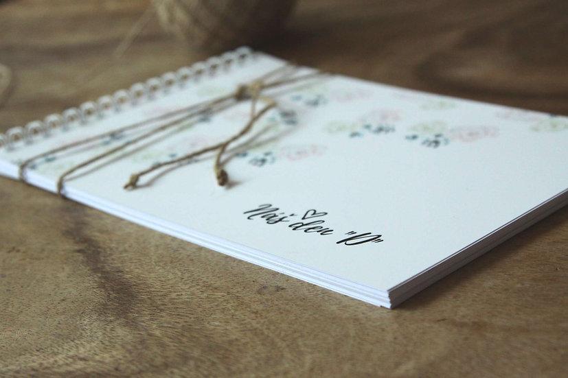 Kniha přání hostů Něžná Grace, bílá 297x210, tištěná