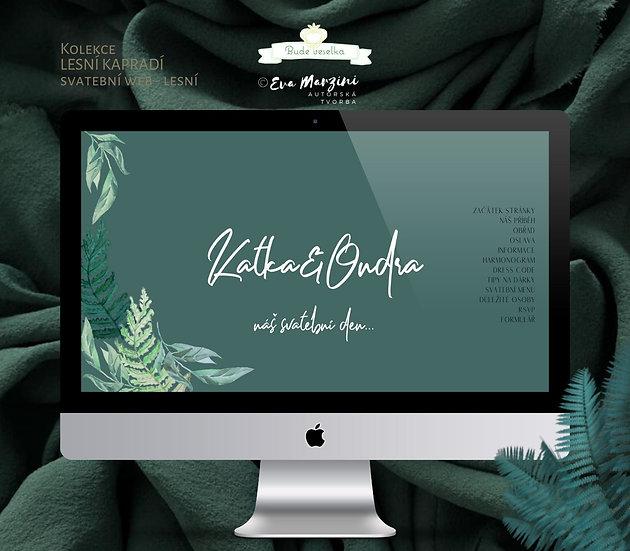 Svatební web Lesní kapradí, zelená