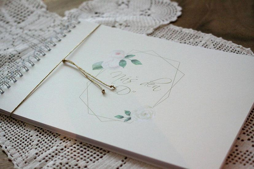 Kniha přání Vintage geometry, krém 297x210, tištěná
