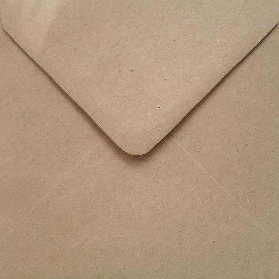 Obálka 14x14cm kraftová / písková
