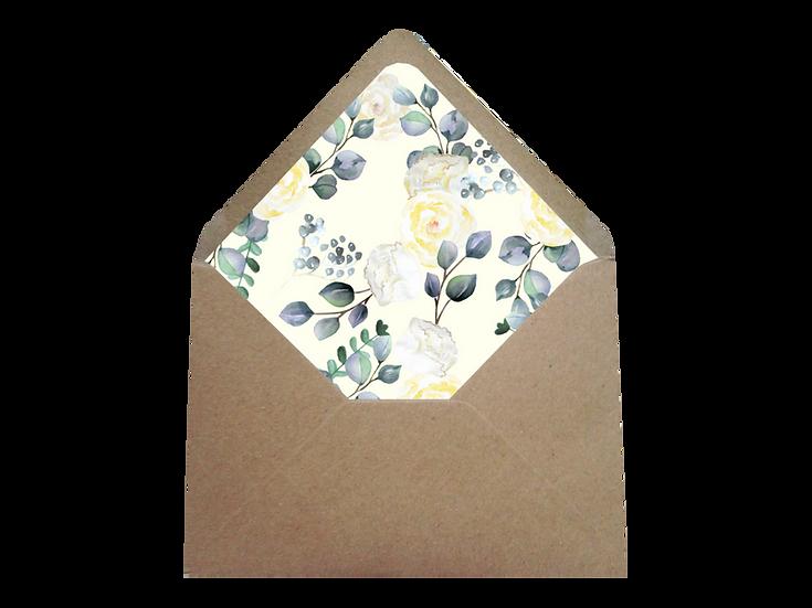 Obálka C6+ kraftová/písková- s vkladem Grace Kelly, No.2