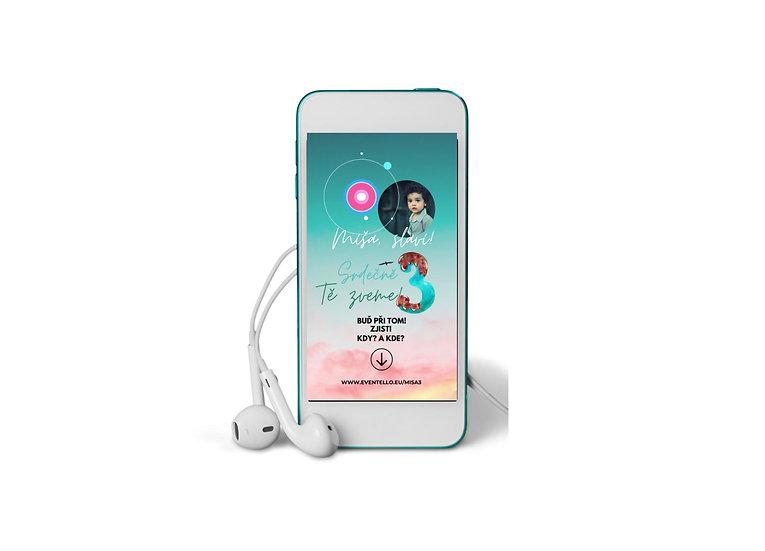 Baby Shower No.1 - animovaná pozvánka do mobilu