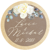 Kulaté nálepky Grace Kelly, No.3, 72 ks /45 mm