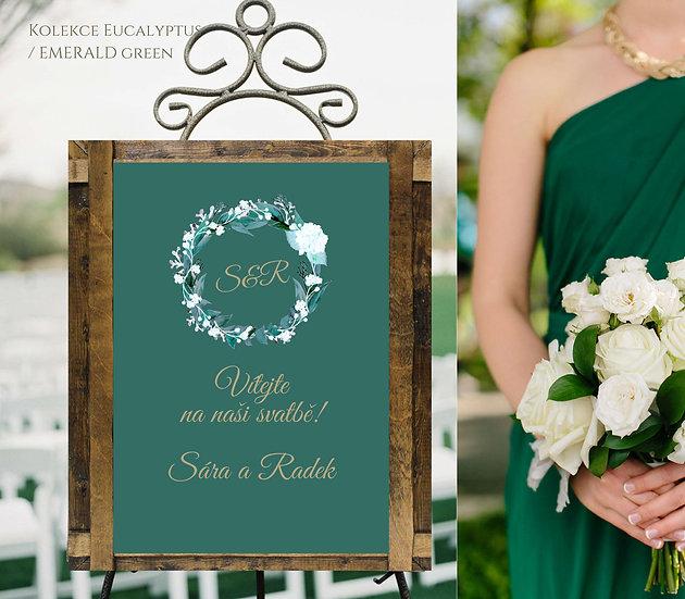 Plakát Vítejte Eucalyptus, emerald green, A3