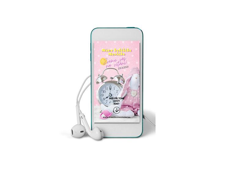Baby Shower No.4 - animovaná pozvánka do mobilu