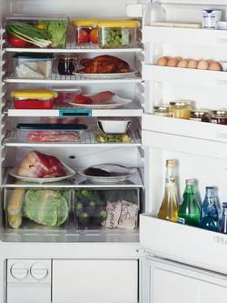 Uklizeno v lednici.
