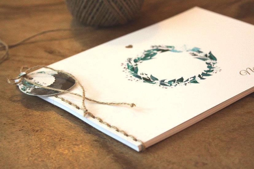 Kniha přání Eucalyptus, bílá 297x210, tištěná