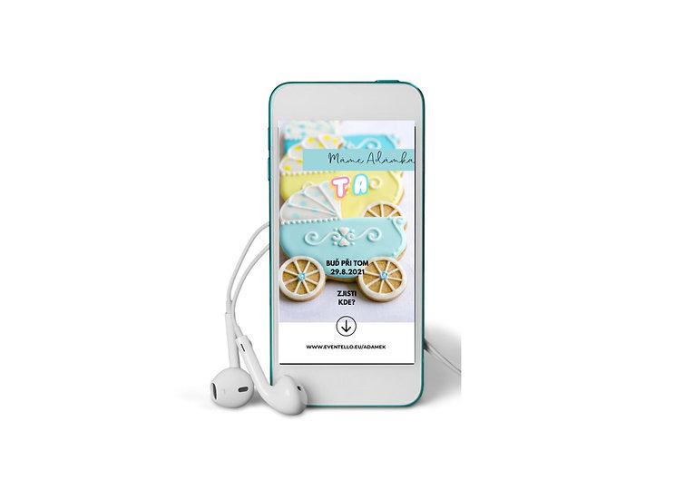 Baby Shower No.12 - animovaná pozvánka do mobilu