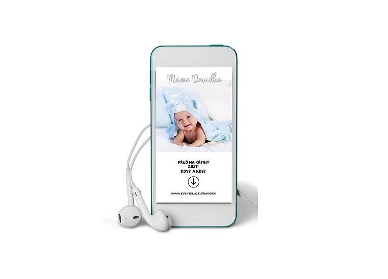 Baby Shower No.6 - animovaná pozvánka do mobilu