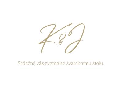Pozvánky Zlatá kaligrafie, bílé, 75x105 mm
