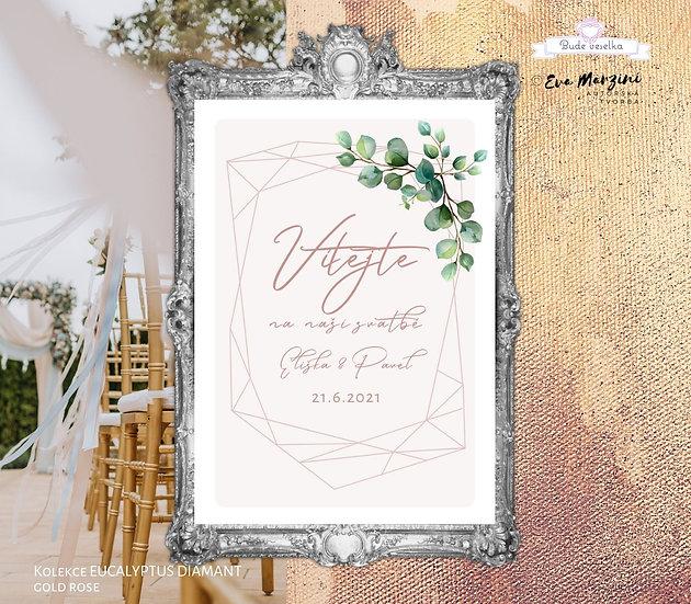 Plakát Vítejte Eucalyptus Diamant, A3 - pudr - tištěný