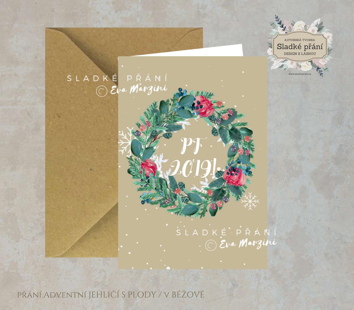 4-Vánoční přání Adventní JEHLIČÍ SPLODY
