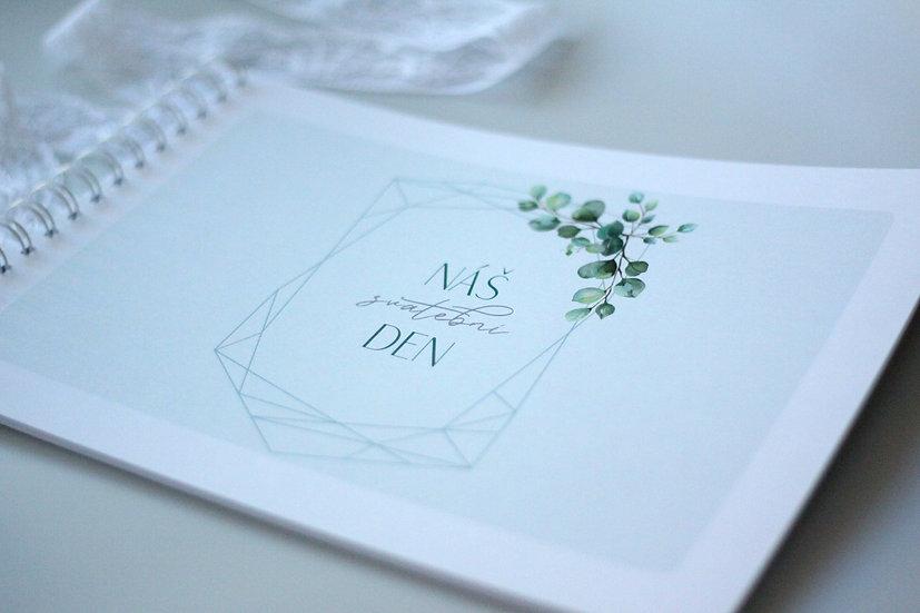 Kniha přání Eucalyptus Diamant, mint 297x210, tištěná