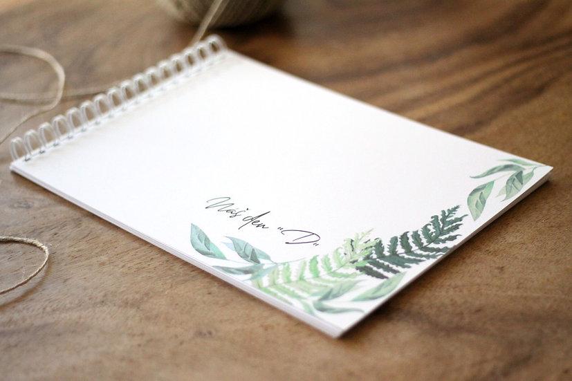 Kniha přání Lesní kapradí, bílá 297x210, tištěná