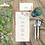 Thumbnail: Jmenovky Polní kvítí, v přírodní béžové - 90x100mm tištěné
