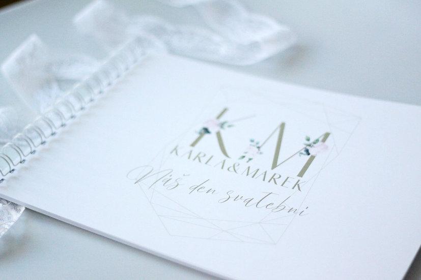 Kniha přání Pivoňky Diamant, bílá 297x210, tištěná