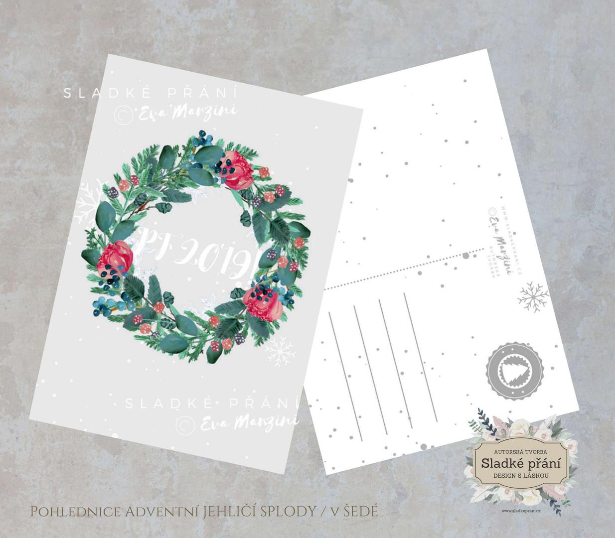 1-Vánoční pohled Adventní JEHLIČÍ SPLODY